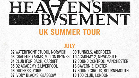 Heaven's Basement UK Tour Post